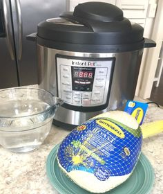 How to cook turkey for the freezer in the Instant Pot Pressure Cooker to use in other recipes. Simple and easy steps and use ideas to keep cooking simple. Pressure Cooker Turkey, Power Pressure Cooker, Instant Pot Pressure Cooker, Pressure Cooker Recipes, Pressure Cooking, Instant Cooker, Pressure Pot, Cooking A Frozen Turkey, Butterball Turkey