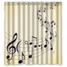 This shower curtain is for the shower singer in your house!! Please see a list below of the sizes.  Machine wash on cold. Do not bleach or tumble dry. Hang