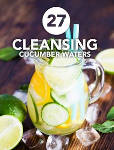 I love these cucumbers waters! They are perfect for an easy daily detox and will keep you hydrated.