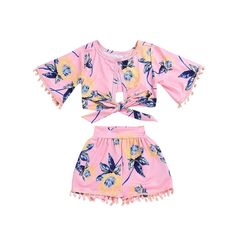 Pudcoco Toddler Girl Summer Clothing Set T-shirt Tops+Short Pants Outfits Kids Baby Girl Flower Tassel Clothes Price history. Baby Outfits, Cute Outfits For Kids, Girly Outfits, Toddler Outfits, Stylish Outfits, Dress Outfits, Toddler Fashion, Kids Fashion, Style Fashion