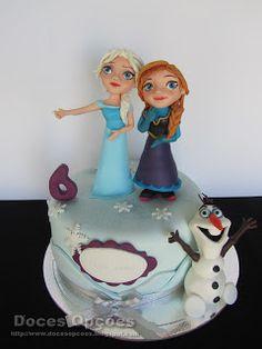 Doces Opções: A Anna, a Elsa e o Olaf no 6º aniversário da Maria...
