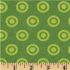 Alpine Flannel Circle Dots Green