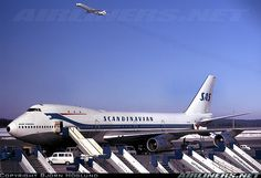 "Scandinavian Airlines System (SAS) Boeing 747 283B (named ""Ivar Viking"") at Stockholm-Arlanda International Airport, 1974"