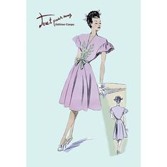 Buyenlarge Dress with Frills Painting Print