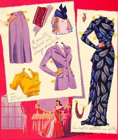 This is a lovely set from Saalfield featuring the star Betty Field, 1941