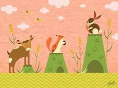 Cattails and Critters Canvas Art