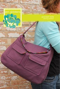 Pocket Tote ~Jen Giddens Studios Sewing Pattern
