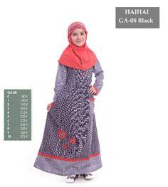 Jual beli Baju Gamis Anak HAIHAI GA 08 BLACK - Size 6 di Lapak Aprilia Wati  - agenbajumuslim. Menjual Baju Muslim Anak - Baju Gamis Anak HAI-HAI GA-08  BLACK ... c3aca3e4d9