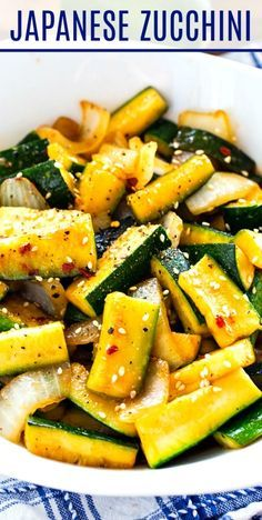 Veggie Side Dishes, Vegetable Sides, Food Dishes, Asian Side Dishes, Zucchini Vegetable, Zucchini Side Dishes, Vegetable Meals, Side Dishes For Chicken, Side Dishes With Steak