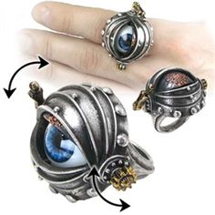 Automaton's Eye Ring - AG-R178 by Medieval Collectibles..So sad it's too big for my finger :(