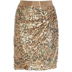 Coast Zuki Sequin Skirt ($36) ❤ liked on Polyvore featuring skirts, bottoms, metallics, sparkle skirts, brown skirt and sequin skirt