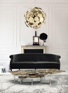 Sofa Grau Blauer Hocker Wohnzimmer Einrichten Beispiele | Wohnen ... 20 Beispiele Wohnzimmertisch Aus Acryl