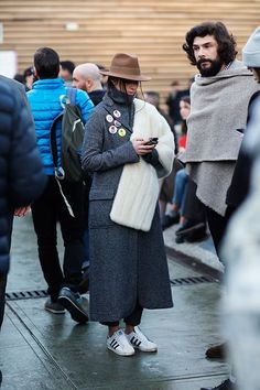 seriously rugged up. Florence. #PittiUomo #TheSartorialist