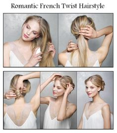 Romantic French Twist Hairstyle | hairstyles tutorial