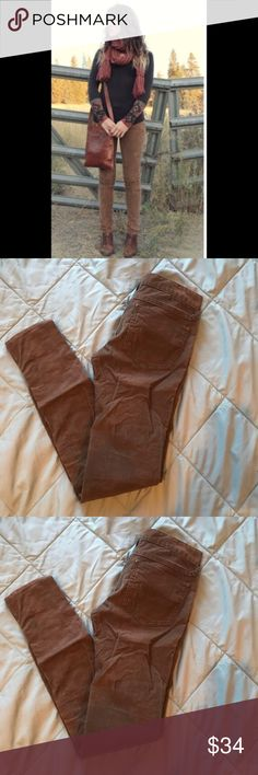 Free People size 26 brown corduroy skinny cut pant Free People size 26 brown corduroy skinny cut pants Free People Pants
