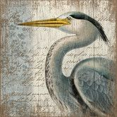Found it at Wayfair - Suzanne Nicoll Blue Heron Graphic Art Plaque