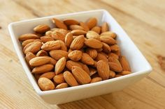 7 Foods for a Healthy Brain: beans, citrus, almonds/nuts, fish, coffee, coconut oil