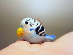 etsy  Felted Parakeet Needle Felted Animal by ThePineappleCatz on Etsy