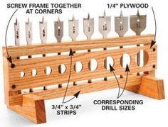 Storage Idea for Drill Bits