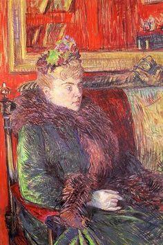 Portrait of Madame de Gortzikolff (Henri de Toulouse-Lautrec - 1893)