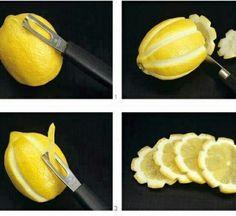 cute idea for lemon wedges... lemon wheels