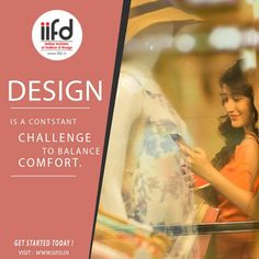 Design Is a Constant Challenge To Balance Comfort!!!  Admission Open 2017-2018  #IIFD_Admissions2017 #FashionDesigningCourses  Be A Successful Interior Designer. Choose Your Course and Speak with our Expert Counselor And Make Your Dreams Come True.  For #Admission_Process Call @+919041766699 OR Visit @ www.iifd.in/