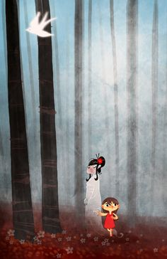 The girl and the ghost by cwgabriel.deviantart.com on @deviantART