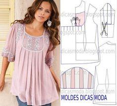 10 bluze moderne pe care puteți să le coaseți în câteva ore... Noi modele pentru garderoba dvs.! - Fasingur