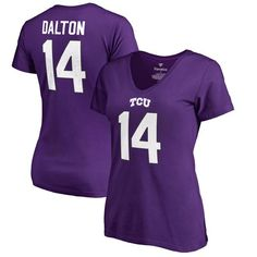 Andy Dalton TCU Horned Frogs Fanatics Branded Women's College Legends Name & Number T-Shirt - Purple - $31.99