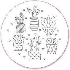 Blooms & Succulents Embroidery Pattern Transfers (set of 10 hoop designs! Hand Embroidery Patterns Free, Iron On Embroidery, Embroidery Flowers Pattern, Simple Embroidery, Embroidery Transfers, Hand Embroidery Stitches, Embroidery Hoop Art, Doodles, Books