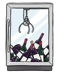 The claw game for choosing a bottle of wine.                                                                                                                                                     More