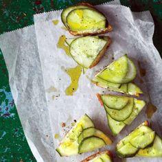 Cucumber-Feta Toasts Recipe | Food Recipes - Yahoo Shine