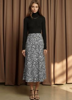c680f21665 Spice up your all black look with this leopard print skirt. #Fashion #Skirt