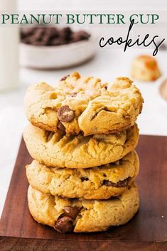 Peanut Butter Cup Cookies are the perfect blend of salty and sweet with a peanut butter cookie base and loaded with mini peanut butter cups!