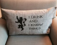 Game of Thrones Pillow Rock Steady Tees Vancouver BC Vancouver, Throw Pillows, Gift Ideas, Rock, Game, Tees, Gifts, Cushions, Stone