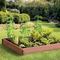 Raised Garden Bed  http://www.improvementscatalog.com/raised-garden-bed/landscaping-gardening/garden-fences-garden-borders-landscape-edging/256907?defattrib===5