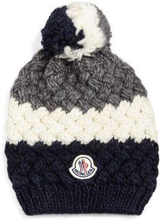 c5e3097dbd1 Moncler Cashmere Chunky-Knit Pom-Pom Hat