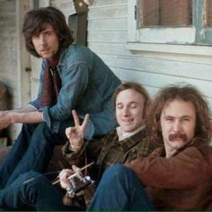 Crosby Stills and Nash from the photo shoot for their first Album cover.