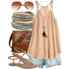 **** Stitch Fix Spring Summer Inspo! Want this entire outfit.  Boho flavor for summer with light denim and beige spaghetti halter top. Try Stitch Fix today... Just click the link to get started and begin your fashion journey! Tell your stylist you want options just like this and they will send you awesome, beautiful pieces just like these! #sponsored #StitchFix