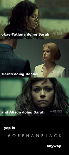 TVShow Time - Orphan Black - The Weight of This Combination Orphan Black, Tatiana Maslany, Make A Family, Bbc America, Black Series, Back To Black, Movie Quotes, Decir No, Yup