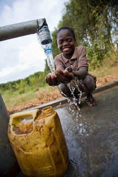 To provide a well to get clean water those who don't have it.
