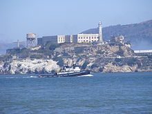 "Alcatraz Island  CALIFORNIA (san fransisco area)    located in the San Francisco Bay, 1.5 miles (2.4 km) offshore from San Francisco, California, United States.[1] Often referred to as ""The Rock"","