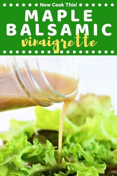 This super quick and easy homemade Maple Balsamic Vinaigrette is sweet, tangy, and perfect for drizzling on all of your favorite salads! Ditch the bottle and make your own homemade salad dressing! Get the recipe and give it a try! #maplebalsamicvinaigrette #balsamicvinaigrette #homemadesaladdressing #saladdressing | nowcookthis.com Honey Balsamic Vinaigrette, Maple Balsamic, Clean Salad Dressings, Salad Dressing Recipes, Best Salad Recipes, Kinds Of Salad, Other Recipes, Recipe Collection, Crockpot Recipes