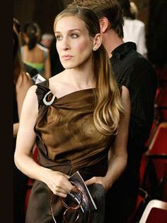 Sarah Jessica Parker, Sex and the City | Red-carpet ready in a sleek, dramatic gown.