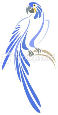Hyacinth Macaw Royalty Free Stock Vector Art Illustration