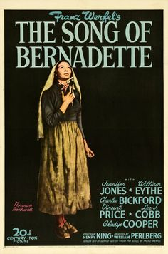 """MP547. """"The Song of Bernadette"""" Movie Poster by Norman Rockwell (Henry King 1943) / #Movieposter"""
