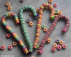Fruit loops and pipe cleaners!