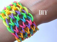 DIY Pulsera de gomitas escamas de dragón / Dragon scale cuff bracelet