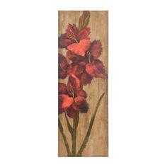 Vivid Red Floral II Canvas Art Print | Kirklands