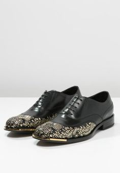 Versace LACEUP   BOOTS - Derbies - nero oro - ZALANDO.FR. Cuponation France  · Chaussures- Homme 031c1727aee